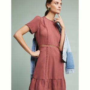 ✨NWT Anthropologie Ruffled open back dress